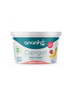 Caprigurt Cambur y Fresa Estilo Griego Ananké 430 g