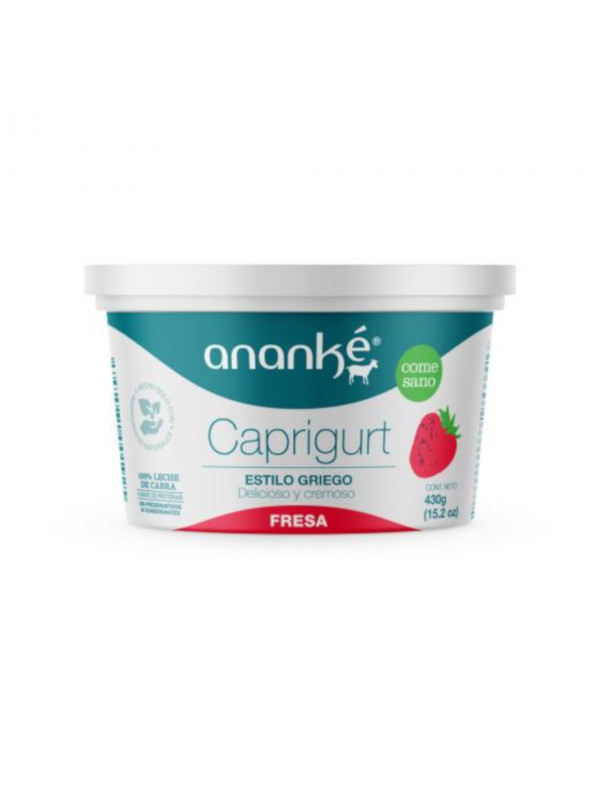 Caprigurt Fresa Estilo Griego Ananké 430 g