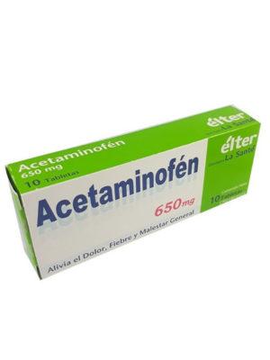 Acetaminofén Élter 650 mg