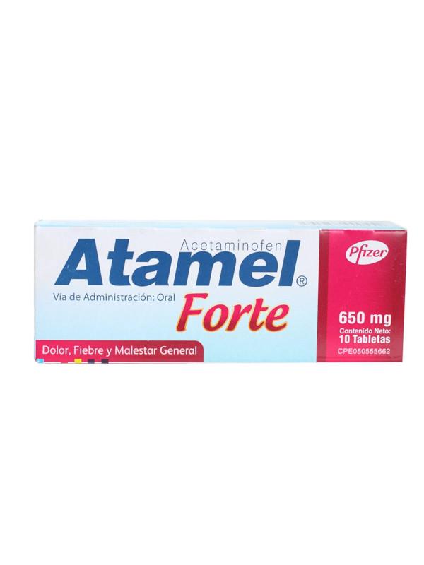 Atamel Forte - Acetaminofén 650 mg Pfizer 10 Pastillas