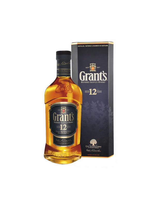 Whisky Blended Scotch 12 Años Grants