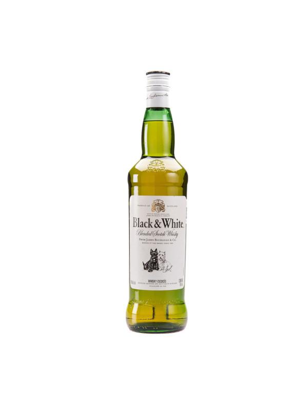 Whisky Blended Scotch Black & White 700 cc