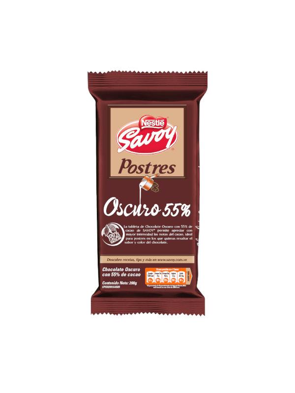 Chocolate Oscuro 55% para Postres Savoy 200 g