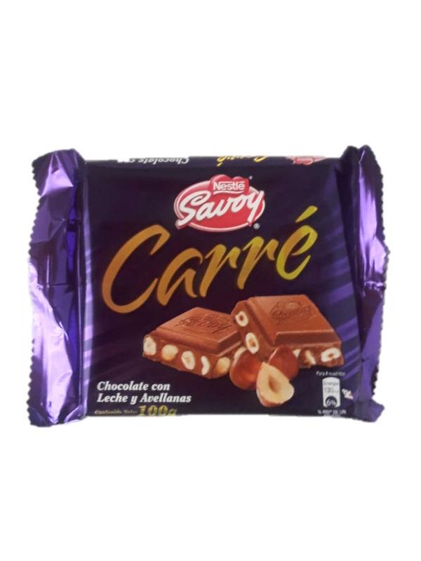 Chocolate con Leche y Avellanas Carré Savoy 100 g