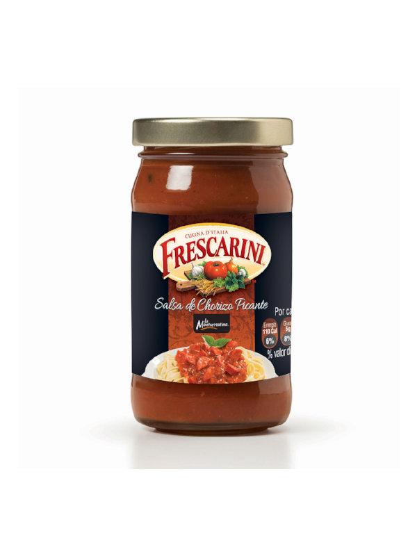 Salsa para Pasta de Chorizo Picante Frescarini 490 g