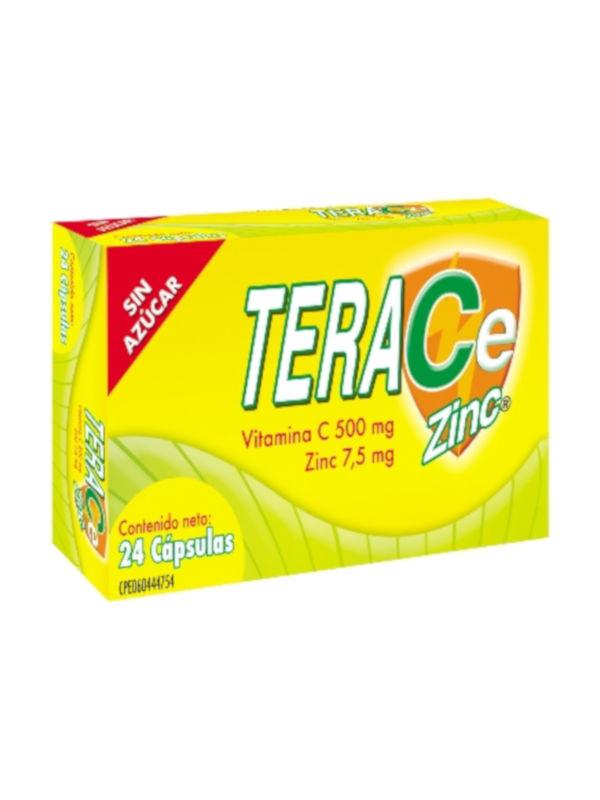Teracezinc Vitamina C y Zinc Farma 24 Cápsulas